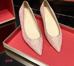 $enCountryForm.capitalKeyWord NZ - 2018 Luxury Fashion Classic Luxury Pointed Toe Pumps Best Sale Women Flats Shoes white pink color