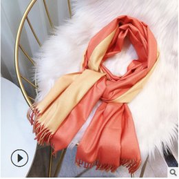 warming scarf Canada - Beautiful Imitation Cashmere Muffler For Winter Women Tassel Scarves Warm Thick Long Scarfs And Shawls Wraps Hijabs Pashmina Lady's Scarfs F