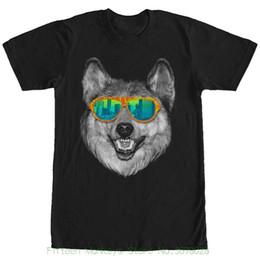 $enCountryForm.capitalKeyWord UK - Men Brand Clothihng Top Quality Fashion Mens T Shirt 100%cotton Lost Gods Wolf Sunglasses Mens Graphic T Shirt