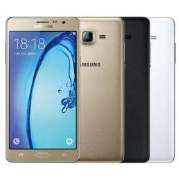 Восстановленное в Исходном Samsung Galaxy On7 G6000 Dual SIM 5.5 дюймов Quad Core 1.5 ГБ RAM 8 ГБ / 16 ГБ ROM 13MP 4 Г LTE Мобильный Телефон Бесплатный DHL 5 шт.