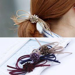 $enCountryForm.capitalKeyWord NZ - Women's Hair Bows Elastic Hair Bands For Women Cute Designers Pony Tail Holders Head Rope Hair Acceessories