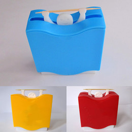 smile storage boxes 2019 - Automatic Plastic Storage Smiling Face Toothpick Holder Home Weightlifter Home Decor Container Hotel Box Hercules cheap