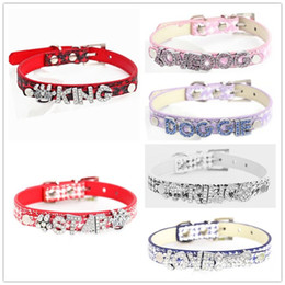 0d98b053e106 New Creative DIY Letter Name Wear Ornaments Dog Collar Pu Dogs Chain Puppy  Clothing Pet Supplies Multi Color High Quality 4 5bl4 aa