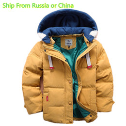 $enCountryForm.capitalKeyWord NZ - (Ship from Russia)4-11T Baby Boy Clothes Boys Coats and Jackets New Winter Boys USA Flag Hooded Coat Thick Warm Winter Coat