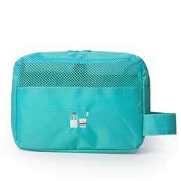 Waterproof Travel Toiletry Storage Pack Polyester Mesh Cosmetic Bag  Portable Makeup or Shaving Kit with Hanging Organizer Bag fb7588c4bf9d0
