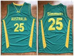 25 Ben Simmons Team Australia Retro Classic Basketball Jersey Mens  Stitched Custom Number and name Jerseys ddeddf479