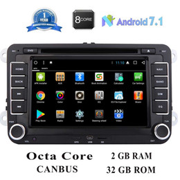 China EinCar Car dvd Stereo Radio Android 7.1 Nougat 7 Inch In Dash Touch Screen Audio GPS Navigation for Volkswagen SEAT Octa Core suppliers