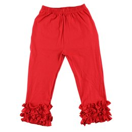 girls soft leggings UK - New Arrival Baby Girls Ruffle Leggings Children Cotton Soft Pants Spring and Autumn Kids Clothes