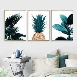 Canvas Poster Prints NZ - Nordic Pineapple Painting Wall Art Cuadros Home Decoration Poster And Prints Plant Art Picture on Canvas No Photo Frame
