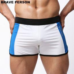 Brave swimwear online shopping - 2018 BRAVE PERSON Summer Style swimwear Men Beachwear Shorts Men Sportwear Sea Beach Shorts Slip Soft swimming Trunks