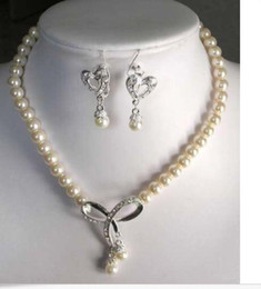 $enCountryForm.capitalKeyWord Australia - Charmin 8-9mm White Akoya Pearl necklace & earring Set