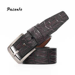 $enCountryForm.capitalKeyWord Canada - PACENTO Designer Belts Men High Quality Crocodile Italian Genuine Leather Strap Male Pin Buckle Belts for Men Jeans Erkek Kemer