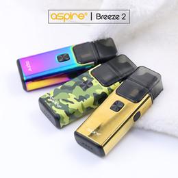 $enCountryForm.capitalKeyWord NZ - New Color Original Aspire Breeze 2 kit (AIO) 3ml 2ml(TPD) Capacity 1000mAh Battery refillable pod systems Authentic e cigarettes Vape