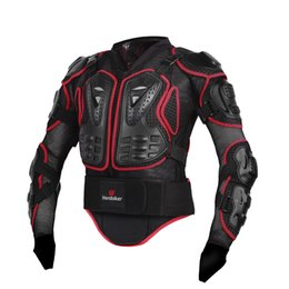 Discount jacket protectors HEROBIKER Moto Armatura Off-Road Racing Corpo Protector Jacket Motocross Moto Giacca Giacche Moto + Neck Protector