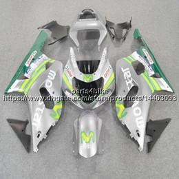 $enCountryForm.capitalKeyWord UK - 5Gifts+Custom ABS movistar silver Fairing For Suzuki GSX-R600750 2001 2002 2003 GSXR 600 R750 K1 bodywork motorcycle plastic kit