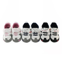 sneaker shoes uk 2019 - baby shoes first walkers Newborn Baby Boys Girls CribPrewalker Soft Sole Anti-slip Sneakers Shoes SpecificationS m6 uk c