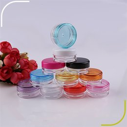 box for jar cream UK - Free shipping 5g 5ml small Plastic Container Box , 3g Sample Cosmetic Cream Jar for Makeup Cosmetics Usage
