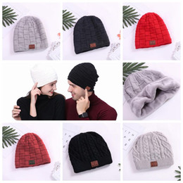 Skull tieS online shopping - 8 Colors Wireless Bluetooth Beanies Sport Music Hat Smart Headset Cap Warm Winter Hat With Mic Speaker For All Smart Phones CCA8866