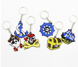 chains for cell phones 2019 - New 100 pcs Halloween pirate Key Chains Strap For Cell Phone Bag Pendant For Best Gift Free Shipping u1 cheap chains for