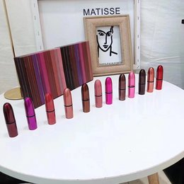 famous lipstick brands 2019 - Famous makeup Brand M Lipstick Set 12colors Lipstick Matte 12pcs set with Gift Box DHL shipping. cheap famous lipstick b