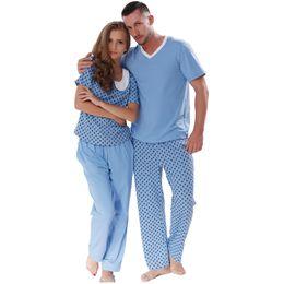 58ada74b55 New 2016 Lovers Spring Summer Cotton Pyjama Printed Short Sleeve Sleepwear  Suit Couple Pajama Set For Men Women