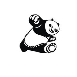 Panda mirror online shopping - 1PC cm Kung Fu Panda Po Animals Car Stickers Reflective Vinyl Car Styling Waterproof Motorcycle Car Accessories CA