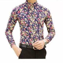 $enCountryForm.capitalKeyWord Australia - HCXY 2017 new fashion spring mens flower shirts casual designer men floral shirt for male camisas masculinas social shirt men
