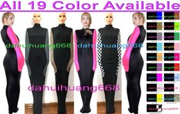 spandex zentai mummy NZ - Sexy Body Bags Mummy Costumes Sleeping Bags Unisex Sexy 19 Color Lycra Mummy Suit Costumes Sleeping Bags With internal Arm Sleeves DH276