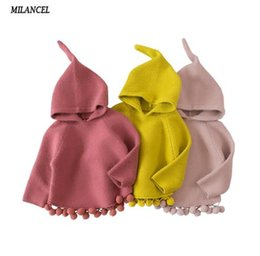 $enCountryForm.capitalKeyWord NZ - 2018 Children's Sweaters Hooded Girls Knitted Sweater Autumn Winter Toddler Sweaters Casual Kids Knitwear Kids Clothes