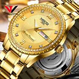 Discount men dress automatic watches - Relogio NIBOSI Brand Luxury Mechanical Watch For Men Waterproof Stainless Steel Watches Dress Crystal Automatic Date And