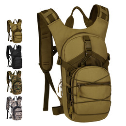 motorcycle riding backpacks UK - High Quality Men Nylon Backpack Assault Daypack 2.5L Water Bags Travel Bag Casual Knapsack Motorcycle Riding Rucksack
