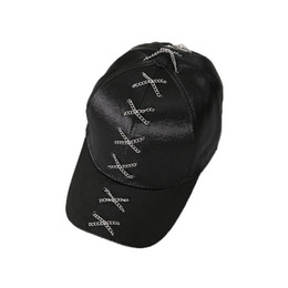 Metal Iron Chain Baseball Caps For Men Women Adjustable Snapback Caps Punk  Rock Style Crossed Chains Hip Hop Cap Hats Shade Hats 78821dd724a3