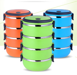 $enCountryForm.capitalKeyWord NZ - Bento box work lunch box stainless steel insulated lunch box multi-layer round student can be a gift can be printed logo