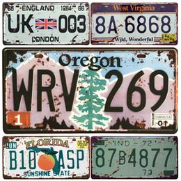 $enCountryForm.capitalKeyWord NZ - USA Oregon State Car Metal License Plate Vintage Home Decor Tin Sign Bar Garage Decorative Metal Sign Art Painting Retro Plaque Y18102409