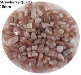 Crystal Chips NZ - C41 9~12mm Natural Strawberry Specimens Crystals Quartz Stone Chips Beads Gemstone Aquarium