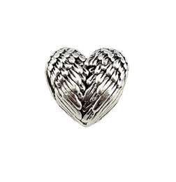 big tibetan beads UK - Free Ship 100Pcs Tibetan Silver Big Hole Lovely Heart Wing Beads Charms Spacer Beads For Jewelry Making 11x11.5mm Hole 4.5mm
