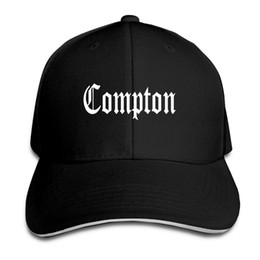 38cd407264d 2018 Baseball Cap Compton Print Mens Womens Baseball Caps DJ Music Rap  Adjustable Couple Snapback Caps Hats Man Femal Hat