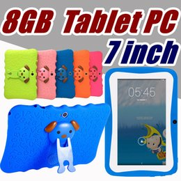 A33 Quad Core Tablet Australia - DHL Free Shipping Kids Brand Tablet PC 7 inch Quad Core childrent Android 4.4 Allwinner A33 real 8GB wifi protective cover L-7PB