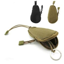 men key case Australia - EDC Mini Key Wallets Holder Men Coin Purses Pouch Military Army Camo Bag Small Pocket Keychain Zipper Case Out Door Pack !