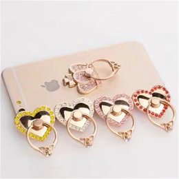 Discount unique cellphones - Bling Diamond Ring Phone Holder Unique Love Heart Cell Phone Holder Fashion for iphone 7 plus 6 6s all cellphone stand w