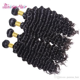 Queen Brazilian Deep Wave Hair Australia - pamina Mink Brazilian Deep Curly Virgin Hair Bundle Deals 8A Unprocessed Queen Hair Products Brazilian Deep Wave Virgin Hair 4pcs Lot