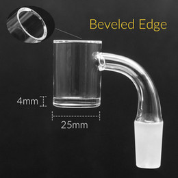 male female crystals 2019 - New beveled edge quartz banger 4mm bottom 25mm OD Quartz Banger Nail Female Male 10mm 14mm for dab rig glass water pipe