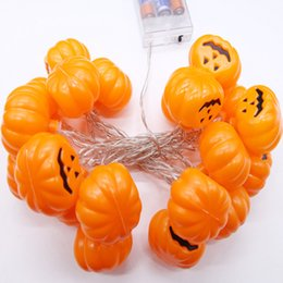 Discount mini pumpkin decoration - Pumpkin shape Lights Mini String Lights pumpkin Strip Battery Operated Starry lights For Christmas Wedding Party Decorat