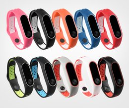 Wholesale Xiaomi Mi Band Bracelet Strap for Xiaomi Mi Band2 Color Silicon Strap Wristband Replacement Accessories For Band