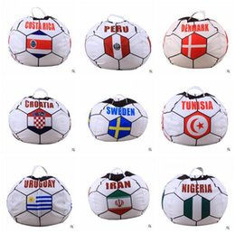 $enCountryForm.capitalKeyWord NZ - World Cup Storage Bags Baby Bean Bag Soccer Livingroom Stuffed Countries Chair Portable Kids Toy Bean Bag for Adult Play Mat Clothes