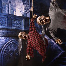 $enCountryForm.capitalKeyWord NZ - Buf Halloween Party Hanging Decoration Electric Ghost Creative Halloween Party Decoration Scary Horror Ghosts With Sensor Light