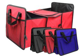 China 2018 Oxford Foldable Car Reserve Storage Compartment Vehicle Multifunction Receiving Box Large Capacity Thermal Insulation Box suppliers
