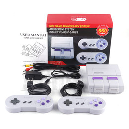 ClassiC snes games online shopping - Super Classic SFC TV Handheld Mini Game Consoles Entertainment HD System For SFC NES SNES Games Console With English Retail Box