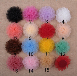 Flowers For Clothes Decoration Canada - 100pcs Hot sale 3.5 inch organza carnation flowers without clip party decoration flower for Clothing shoes hair Accessories HT2134