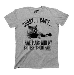 Detail gift online shopping - Details zu Sorry I Cant I Have Plans With My BRITISH SHORTHAIR Cat T Shirt Mens Ladies CATS Funny Unisex Casual tee gift